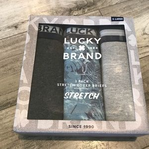 Lucky Brand Men's 3 Pack Stretch Boxer Briefs